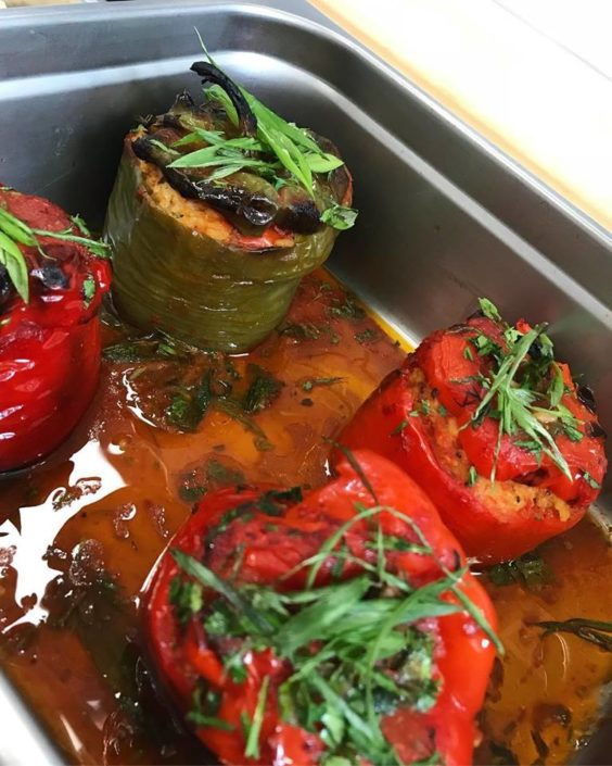 Yiayia's Special: Gemistés Piperiès (Stuffed Peppers)