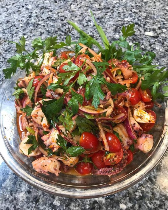 Lesvos Octopus Salad