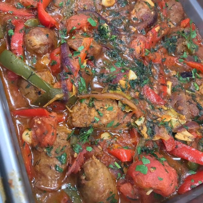 YiaYia's Special: Sausage and Peppers